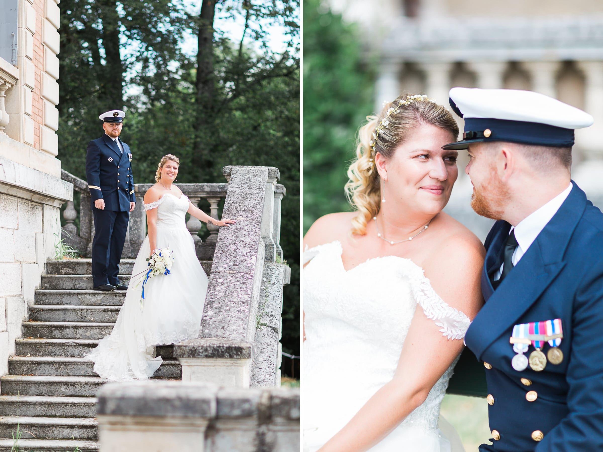 photos de couple au château de Vinay