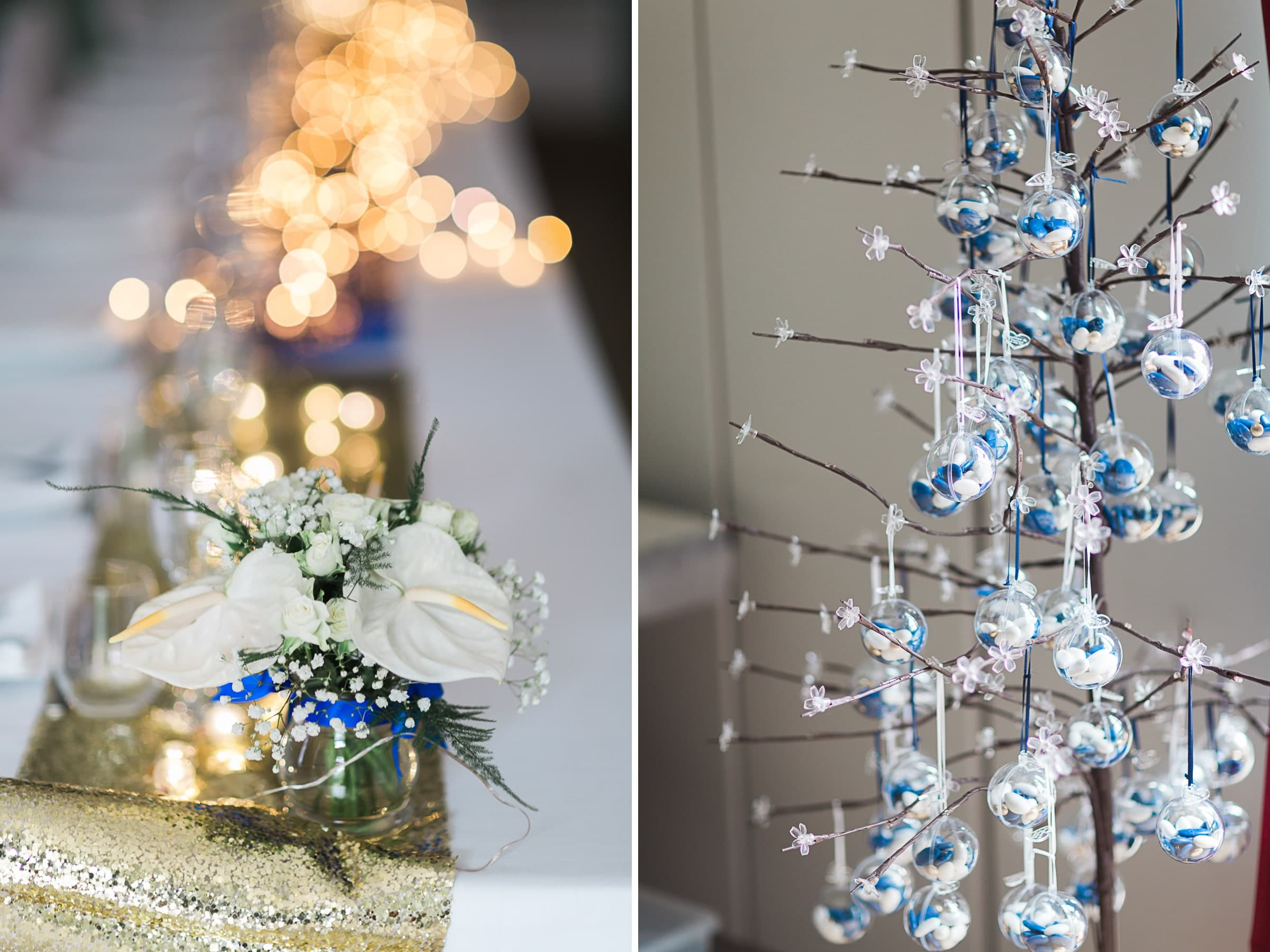 décoration mariage bleue