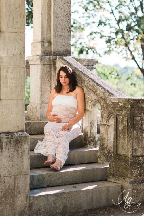 Séance grossesse en extérieur - Photographe sur Saint-Marcellin/Saint-Sauveur